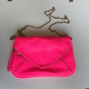 NWT Street Level Hot Pink & Gold Envelope Purse